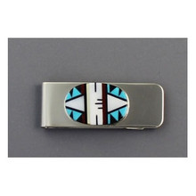 Zuni Inlay Money Clip by Fernadez Lennentino