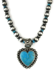 Kingman Turquoise Heart Necklace by Happy Piaso