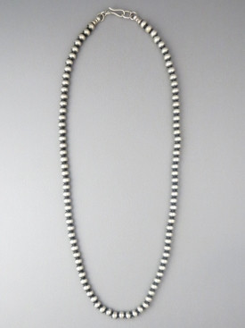 Antiqued Sterling Silver 5mm Bead Necklace 16""
