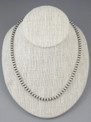 """Antiqued Sterling Silver 5mm Bead Necklace 22"""""""