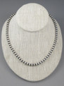 """Antiqued Sterling Silver 6mm Bead Necklace 22"""""""