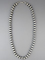 Antiqued Sterling Silver 8mm Bead Necklace 30""