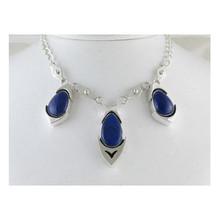 Natural Lapis Necklace & Earring Set