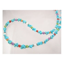 Turquoise & Gemstone Bead Necklace (NK2036)
