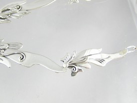 Natural High Grade Charoite Gem Necklace & Earring Set