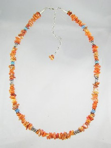 Spiny Oyster Shell & Opal Beaded Necklace
