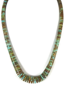 "Turquoise Heishi Necklace 21 1/2"" by Santo Domingo Ronald Chavez"