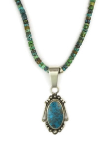 Kingman Turquoise Necklace by Elgin Tom, Navajo