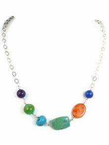 Colorful Gemstone Bead Necklace