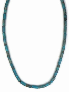 Turquoise Bead Necklace with Extender Chain