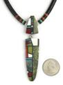 Mosaic Inlay & Heishi Necklace by Christopher Nieto, Santo Domingo
