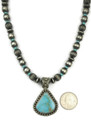 Natural Pilot Mountain Turquoise Necklace by Happy Piaso (NK3683)
