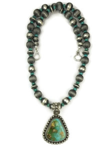 Natural Two Tone Royston Turquoise Necklace by Happy Piaso