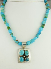 Sterling Silver Chinese Turquoise Necklace