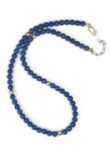 Sterling Silver Lapis Beads
