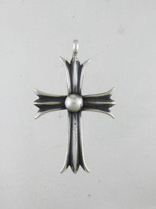 Sterling Silver Cross Pendant - Linda Marble (PD0124)