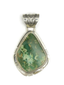 Natural Crow Springs Turquoise Pendant