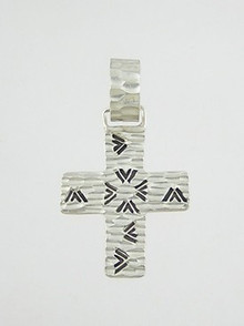 Handmade Sterling Silver Cross Pendant