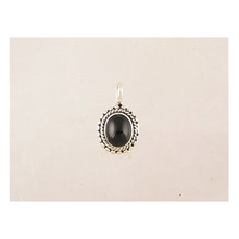 Sterling Silver Onyx Pendant (PD2159)
