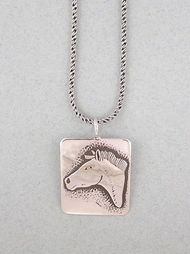 Sterling silver horse pendant southwest silver gallery sterling silver horse pendant aloadofball Gallery