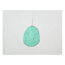 Reversible Sponge Coral & Gemstone Inlay Turquoise Slab Pendant  (PD2196)