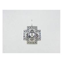 Sterling Silver Cross Heart Pendant