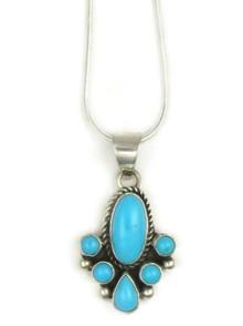 Sleeping Beauty Turquoise Pendant by Kim Yazzie, Navajo