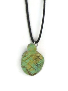 Turquoise Turtle Fetish Pendant by Stacy Turpen, Navajo Indian Jewelry