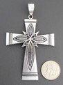Sterling Silver Overlay Cross Pendant by Steven Begay