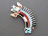 Rainbow Man Inlay Pendant & Brooch by Fabian Bowannie