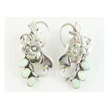 Sterling Silver Opal Earring & Pendant Set by Southwest Artist Les Baker