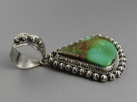 Natural Pilot Mountain Turquoise Pendant by Happy Piaso (PD2810)