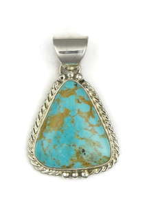 Sterling Silver King Manassa Turquoise Pendant (PD2811)