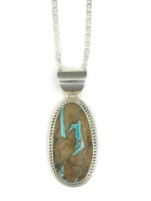 Natural Royston Boulder Turquoise Pendant (PD2817)