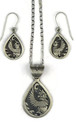 Eagle Kachina Dancer Pendant & Earring Set by Randy Billy, Navajo