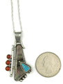 Grey Shell, Turquoise & Coral Pendant by Fritson Toledo