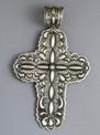 Handmade Large Silver Cross Pendant by Darryl Becenti