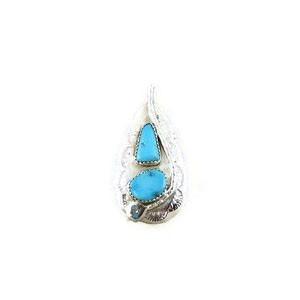 Effie Calavaza Silver Turquoise Pendant (PD3788)