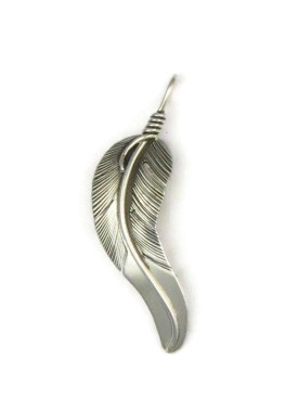 Sterling silver feather pendant by lena platero native american sterling silver feather pendant by lena platero native american navajo indian aloadofball Gallery