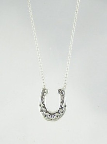 Sterling Silver Horseshoe Pendant Necklace