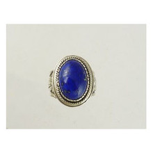 Handmade Sterling Silver Lapis Ring Size 11 by Les Baker