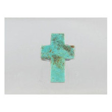 Sterling Silver Turquoise Cross Ring Size 9 - Adjustable