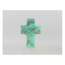 Sterling Silver Turquoise Cross Ring Size 8 - Adjustable (RG0523)
