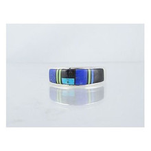 Multi Gemstone Inlay Ring Size 7 (RG0642E)