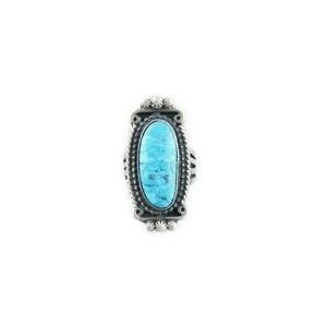 Natural Turquoise Mountain Gem Ring Size 8 - Calvin Martinez