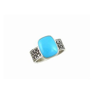 Sterling Silver Sleeping Beauty Turquoise Ring Size 5 1/2
