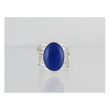 Sterling Silver Lapis Gallery Wire Ring Size 7