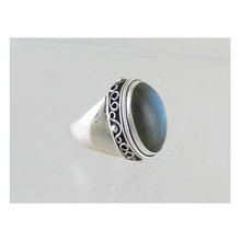 Sterling Silver Labadorite Ring Size 8