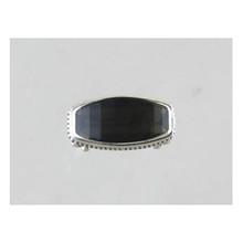 Sterling Silver Smokey Quartz Gem Ring Size 7