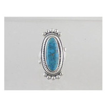 Sterling Silver Kingman Turquoise Ring Size 8 1/2